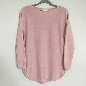 PINK MICHAEL KORS SMALL SWEATER WITH SIDE ZIPPERS